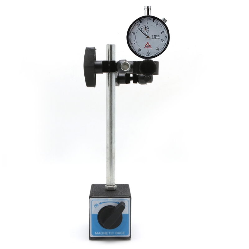 Magnetic Base Holder With Double Adjustable Pole ON/OFF Switch for Dial Indicator Test Gauge Esquadro Para Marceneiro