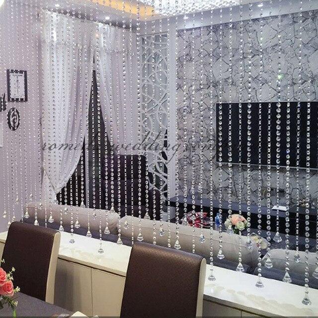 Factory Price 10m Wedding Diy Decor Diamond Acrylic