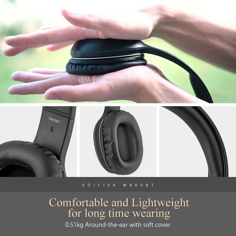 Edifier W800BT Bluetooth Casque Casque Stéréo Sans Fil Écouteur pour iPhone Android Téléphone Ordinateur fone de ouvido - 4