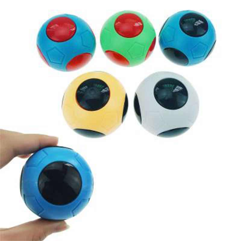 5pcs Decompression Toys Mini Fingertips Football Basketball Gyro Fidget Spinner Interactive Desktop Toys Ball With Whistle