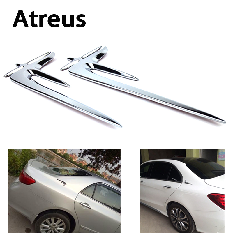 Atreus Car styling ABS Emblem Fender Side Badge Auto Body Decal Sticker For Mercedes benz W211 W203 W204 W210 W205 W212 W220 AMG car styling auto amg sport performance edition side stripe skirt sticker for mercedes benz g63 w463 g65 vinyl decals accessories