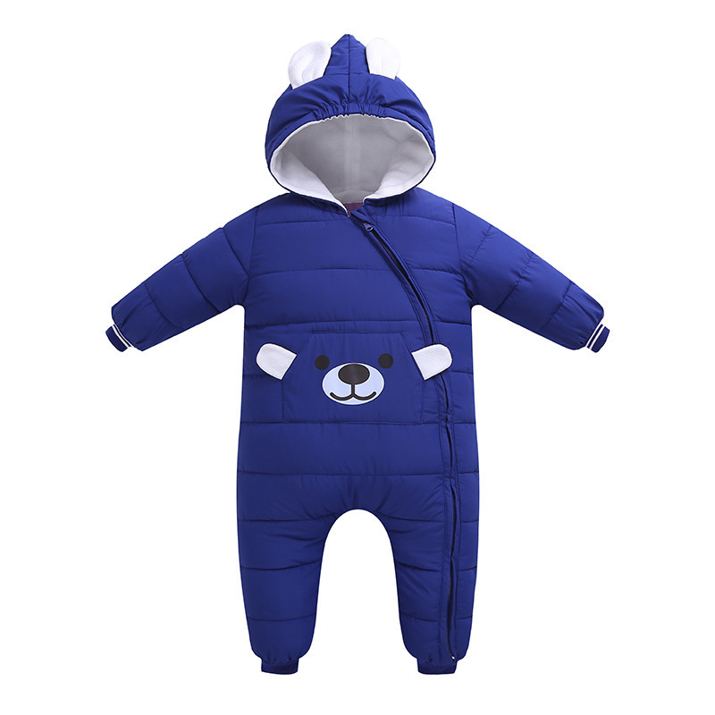Autumn Winter Newborn Infant Baby   rompers   boy girl Clothes Animal Style Clothing   Romper   Cotton-padded Overalls jacket for girls