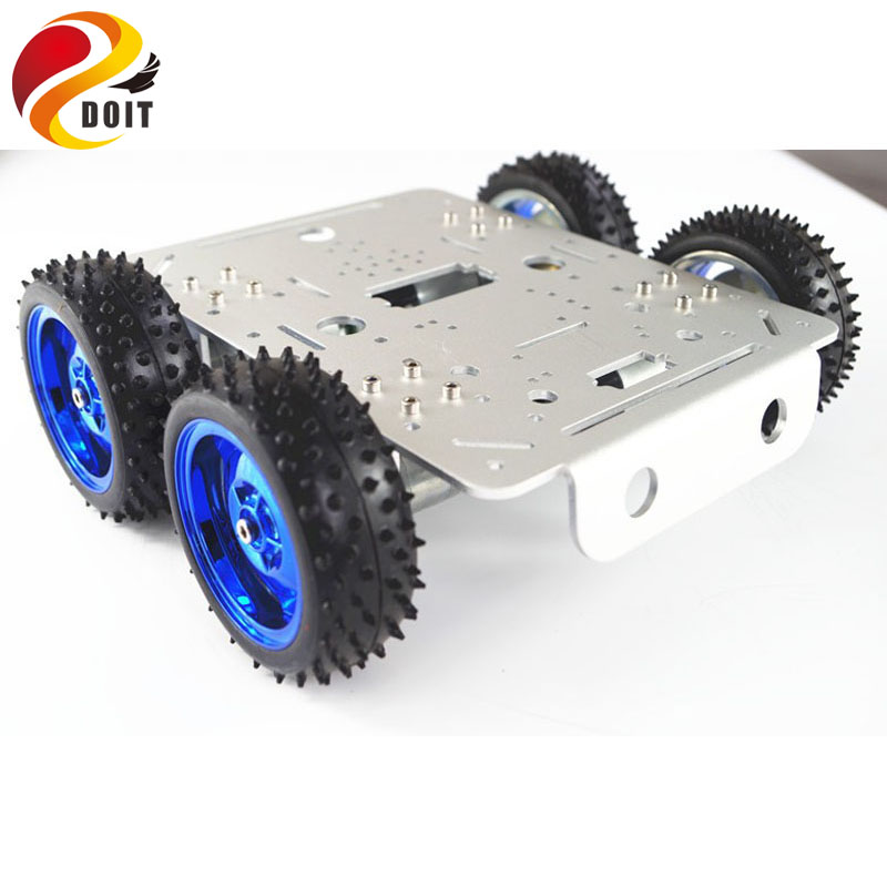 DOIT C300 4WD Metal Car Chassis with Aluminum Alloy Chassis/Frame with Robotic Arm Interface Holes for Modification DIY RC Toy ia73 original chassis middle housing frame for iphone 4 silver