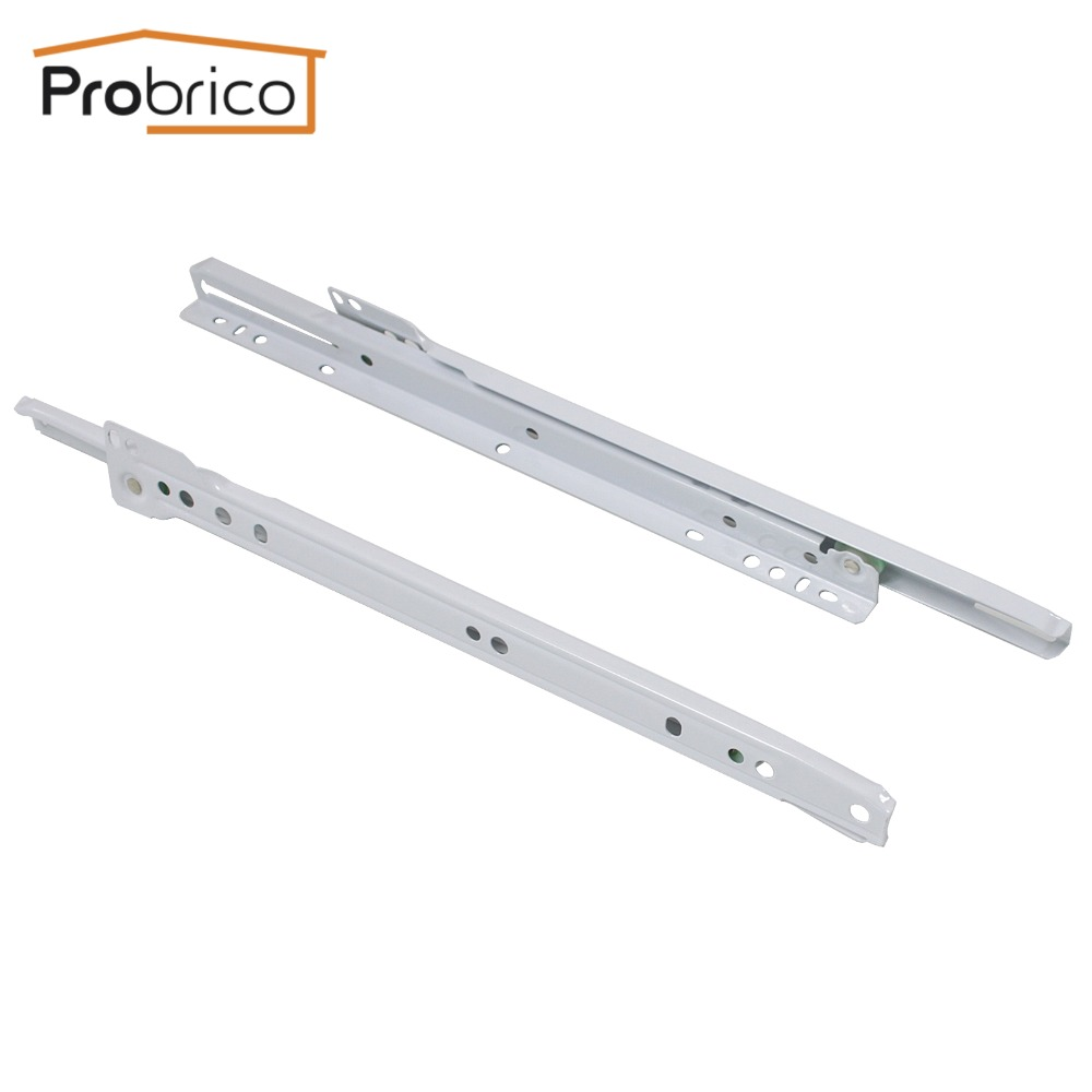 Probrico  2 Pair Keyboard Sliding Drawer DSMH102-12 Steel White Length 300mm 12 Furniture Cabinet Kitchen Cupboard Drawer Slide probrico 5 pair keyboard sliding drawer dsmh102 12 steel white length 300mm 12 furniture cabinet kitchen cupboard drawer slide