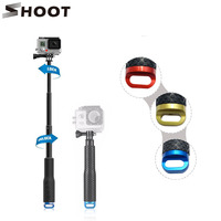 New Shoot Portrable Selfie Stick 19 49cm Handheld Extendable Self Stick Tripod Sticks For Gopro And