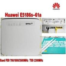 цена на Cat6 300Mbps unlocked Huawei E5186 E5186s-61a LTE 4g wireless router 4g mifi dongle cpe car wifi router pk b890 b880 +4g antenna