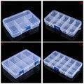 Plástico 5/8/10/15 Slots Jóias Ajustável Tool Box Caso Artesanato Organizador Caixas de Armazenamento de Contas Com azul Fivela venda quente