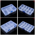 Plastic 5/8/10/15 Slots Jewelry Adjustable Tool Box Case Craft Organizer Beads Storage Boxes With Blue Buckle hot sale