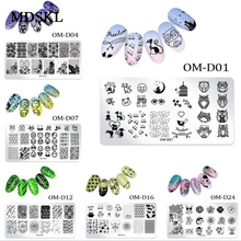 1Pc Nail Stamping Plates Lace Flower Animal Geometry Pattern Nail Art Stamp Stamping Template Image Plate Stencil Manicure Tools