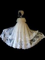 Детские сто дней День рождения детское платье От 0 до 2 лет детские Пользовательские белый кружевной тюль милые длинное платье