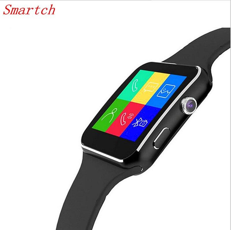 imágenes para Smartch X6 Reloj Inteligente 1.54 ''IPS HD de Pantalla Curva Relogio Smartwatch Bluetooth Con Soporte de La Cámara Tarjeta SIM TF Facebook Whatsap