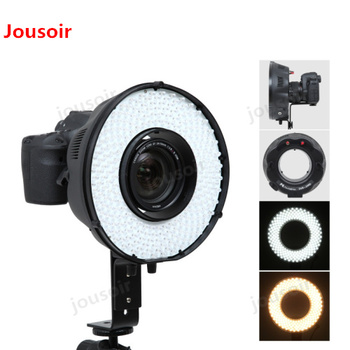 Falconeyes 240 Flash Ring LED Panel Dimmable Selfie Lighting Photo Video Shooting DVR-240D + MV-AD1(NP-F750A) CD5