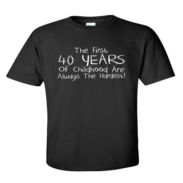 Первые 40 лет Детства Всегда Саркастически Смешно День Рождения Футболку