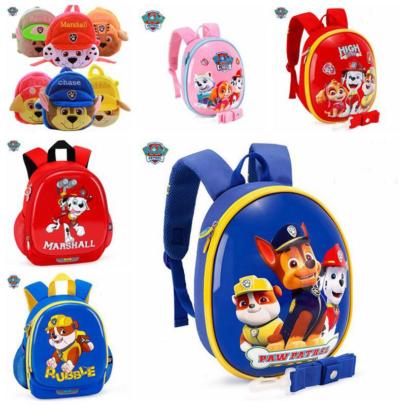 Genuine Paw Patrol Dog Action Figure Everest Chase Skye Marshall Backpack Boy Girls Waterproof Backpack Children Birthday Gift