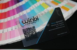 Image 3 - custom transparent PVC business cards custom visit card business card printing,clear frosted business cards