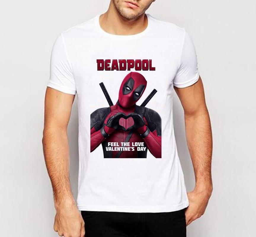 Men T Shirt New Arrive American Comic Badass Deadpool T Shirt Tees
