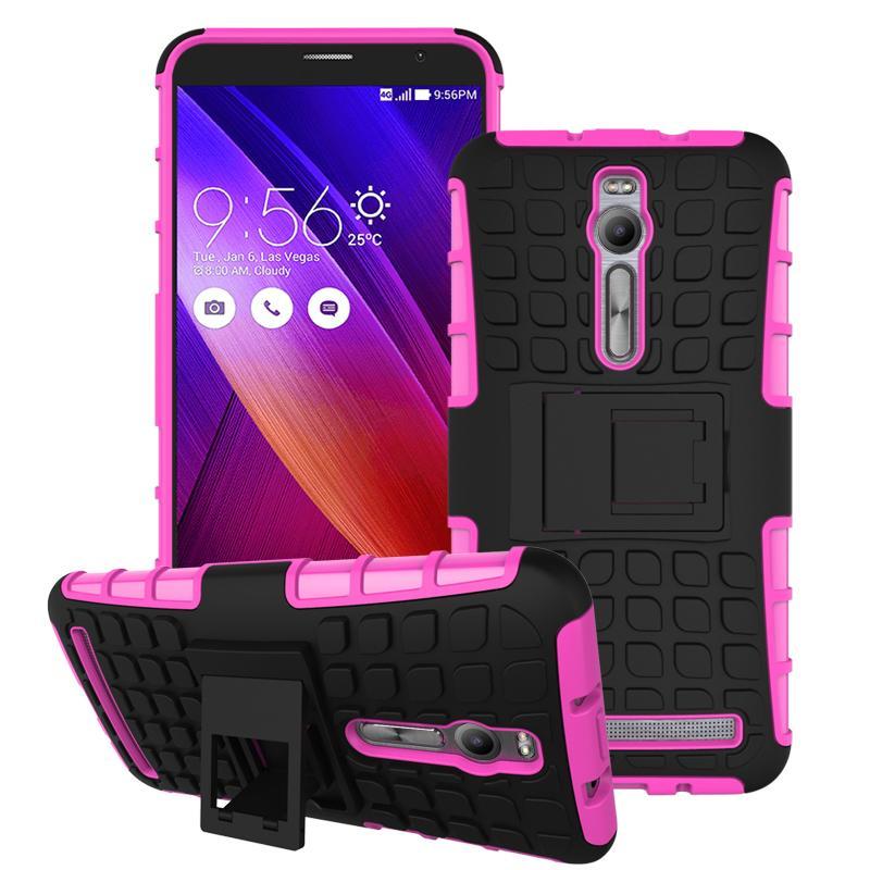 For Asus Zenfone 2 ZE551ML ZE550ML Case Heavy Duty Armor Stand Shockproof Hybrid Hard Soft Rugged Silicon Rubber Phone Cover HTB1roW6JFXXXXcNXXXXq6xXFXXXF