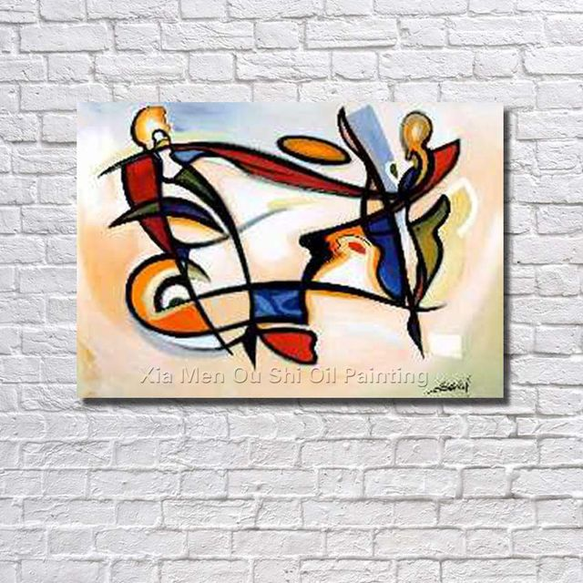 Big Size Hand Painted Modern Wall Art Picture Living Room Bedroom Hall Home Decor
