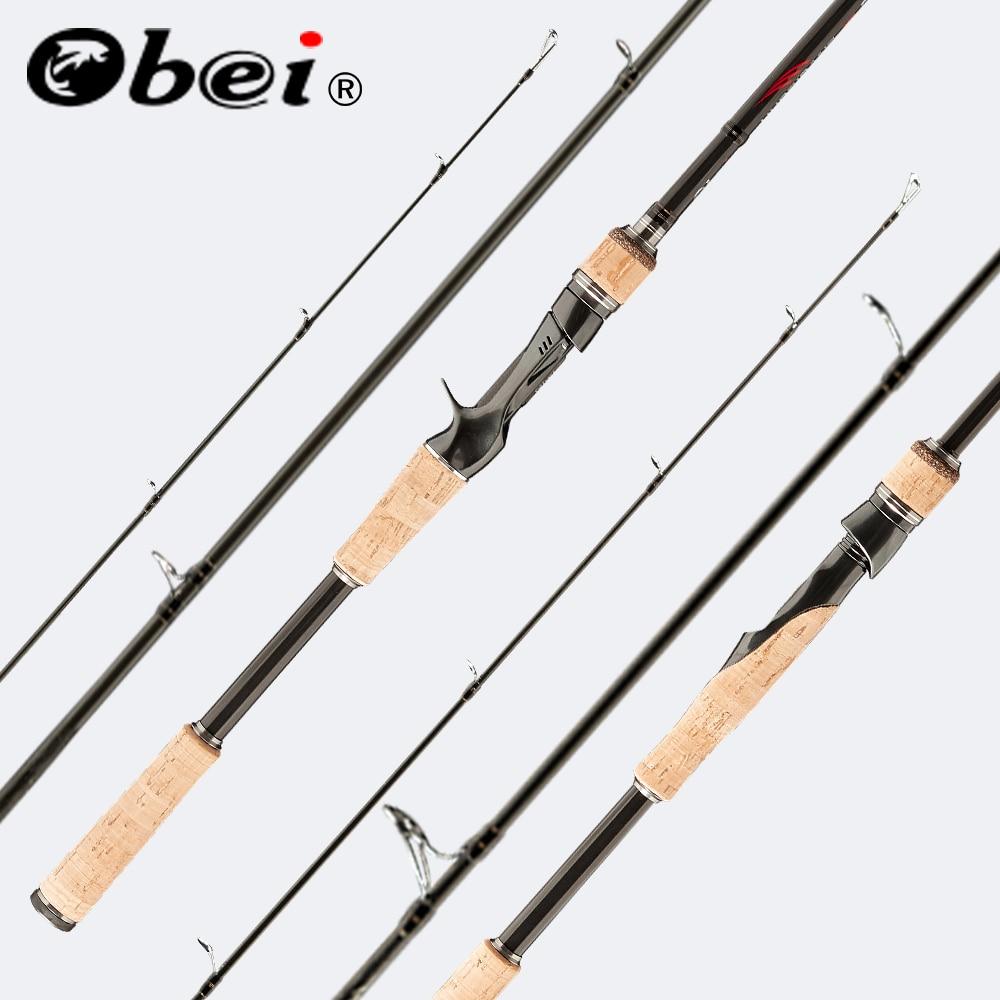 Obei perigeu baitcasting fishing rod viagens spinning ultra light isca 5g-40g M/ML/MH accion Haste 1.8m 2.1m 2.4m 2.7m 3 seção