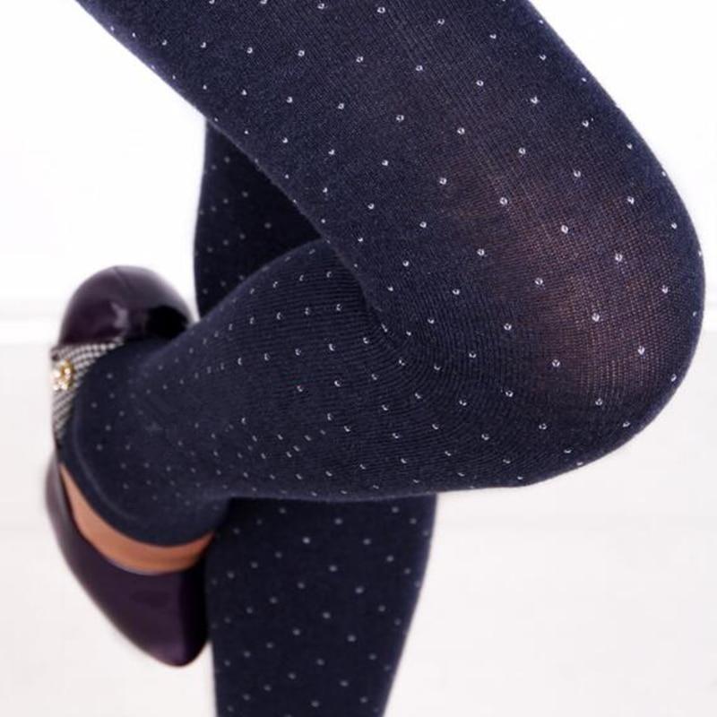 CHSDCSI 2018 Women's Dot Design Legins Autumn Winter Knitted Warm   Legging   Casual Fleece Pants   Leggings   Women Solid Color Leggins