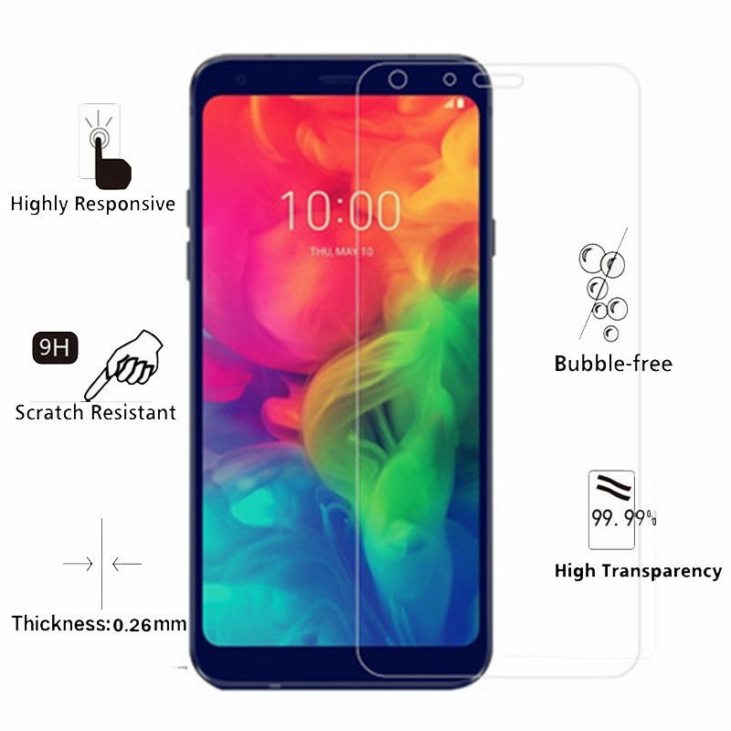 1Pcs Tempered Glass For LG Q7 Screen Protector LG Q7a LG Q7+ Q7 Plus Tempered Glass For LG Q7 Alpha Q7a Q 7 a Protective Film