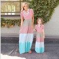 Горячая Мать дочь платье Лоскутное Семьи сопоставления одежда Семья посмотрите соответствия мать дочь одежда Про девочку одежды