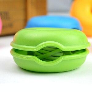 Image 4 - 6 צבעים כבל כבל ארגונית חכם צב בצורת לעטוף חוט המותח אוזניות אוזניות מחזיק מקרה TPR משלוח חינם