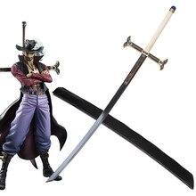 One Piece Mihawk espada Vintage Home Decor Anime espada 1: 1 Los Amantes de la espada de metal colección