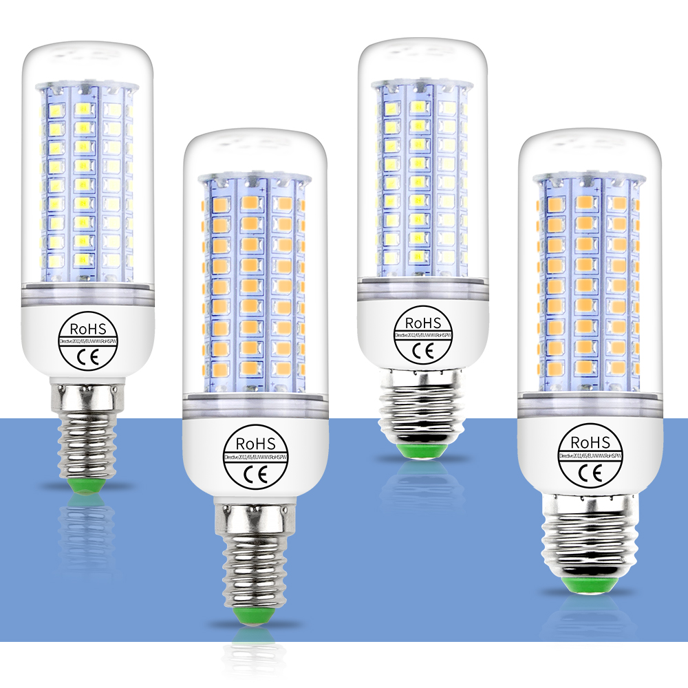 LED Bulb E27 LED Lamp 220V E14 2835 Corn Bulb 24 36 48 56 69 89 102 LEDS Candle Lampka SMD5730 Bombillas LED Lights For Home
