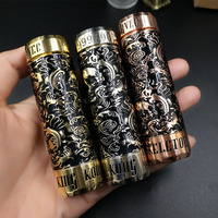 Beautiful Skeleton King Kong Mechanical Mod 510 Thread 18650 Battery Body Mech Mod 26MM Diameter
