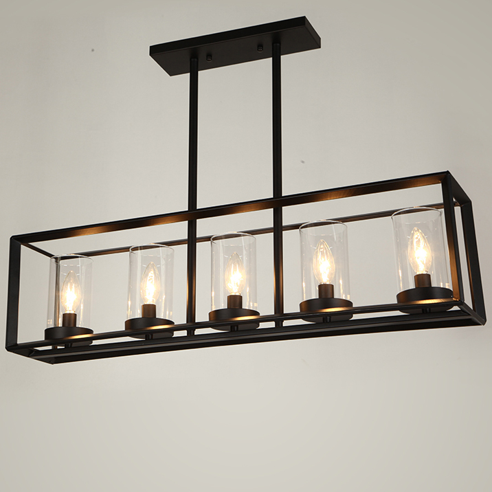 Perfect American Country Long Candle Pendant Lights Fixture Vintage Square Hanging  Lamps Home Indoor Lighting Dining Room