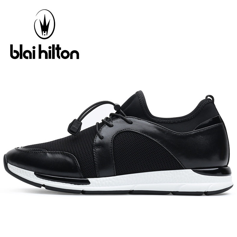 Blaibilton Breathable Mesh Running Shoes Man Brand Genuine Leather Men Sport Shoes Light Weight Summer Men's Sneakers Run Shoes apple summer new arrival men s light mesh sports running shoes breathable fly knit leisure comfortable slip on sneakers ap9001