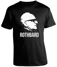 New Style Letter Printed Murray Rothbard Shirt - Anarcho Capitalist Shirts Fashion cotton top tee  Free shipping newest