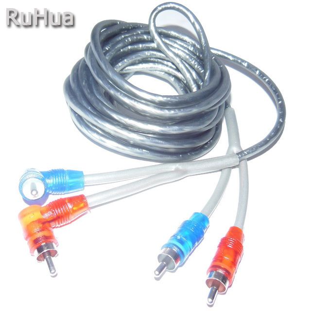 RuHua High Performance Car Styling 4.5m RCA Interconnect Cable Auto ...