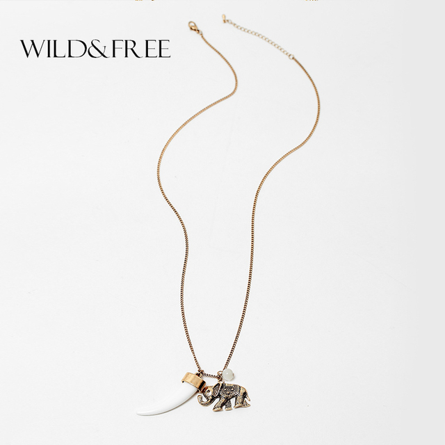 2016 women vintage elephant teething pendant long chain necklace 2016 women vintage elephant teething pendant long chain necklace white teeth pendants metal collar necklace for mozeypictures Gallery
