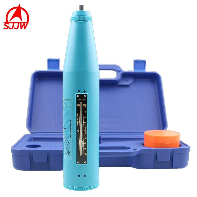 Concreto do Verificador da Recuperação Feito do Material Alto do Polímero Concreto do Teste do Equipamento de Testes de Ht225b Martelo Escudo é