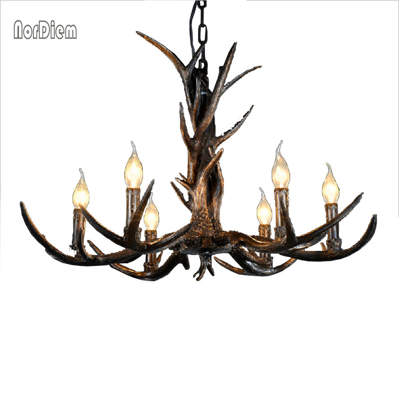 6/8/10 Arms Modern Chandeliers for bedroom christmas lamp pendentes e lustres Vintage Antlers resin ceiling pendant chandelier hemingway e a farewell to arms