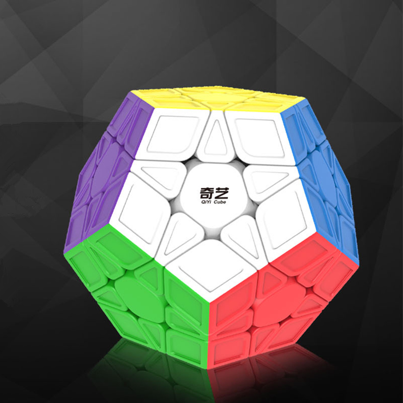 New 12 sides Speed Cubes Pentagon 12 Sides PVC Sticker Dodecahedron Toy Puzzle Toys недорго, оригинальная цена