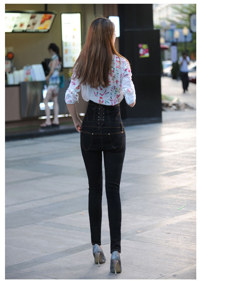 18 Jeans Womens High Waist Black Vintage Denim Long Pencil Pants Plus Size 6XL Woman Jeans Camisa Feminina Lady Fat Trousers 12
