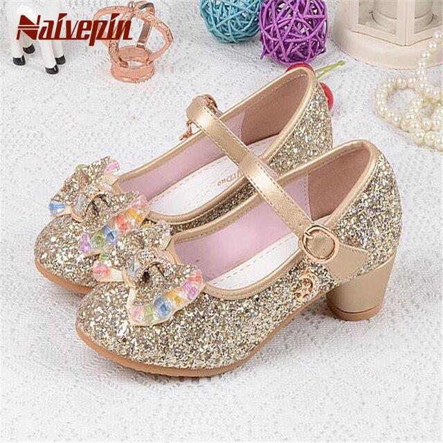 Fashion Qcwdboexre Shoes 2017 Princess Heels Sandals High Girls Children PiOXZTuk