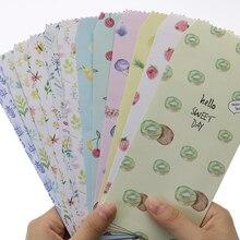 6 дизайнерских бумажных конвертов, цветной цветочный конверт, подарочная карта, коллаж, страстная рассылка, для детей, студентов, праздничный приз, бумага с буквами