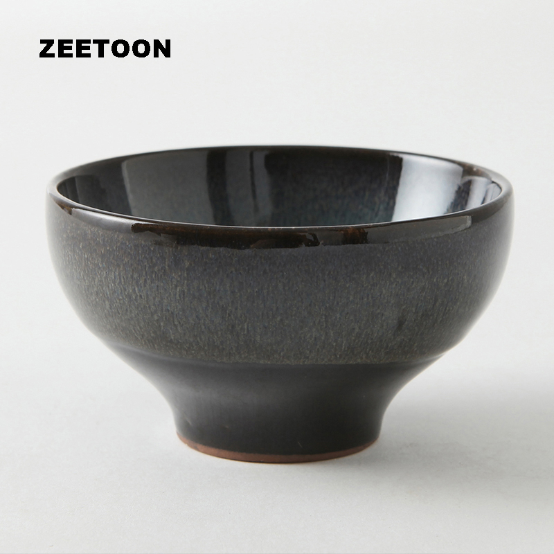 160ml Japanese Style Matcha Green Tea Bowl Tea Cup Glaze Yixing Teacup Handmade Kung Fu Tea Set Master Cup Creative Home Decor