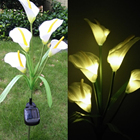Outdoor Solar Powered LED Flower Light Waterproof 5 LED Lamp for Yard Path Way Landscape Decorative Garden Solar Lamp