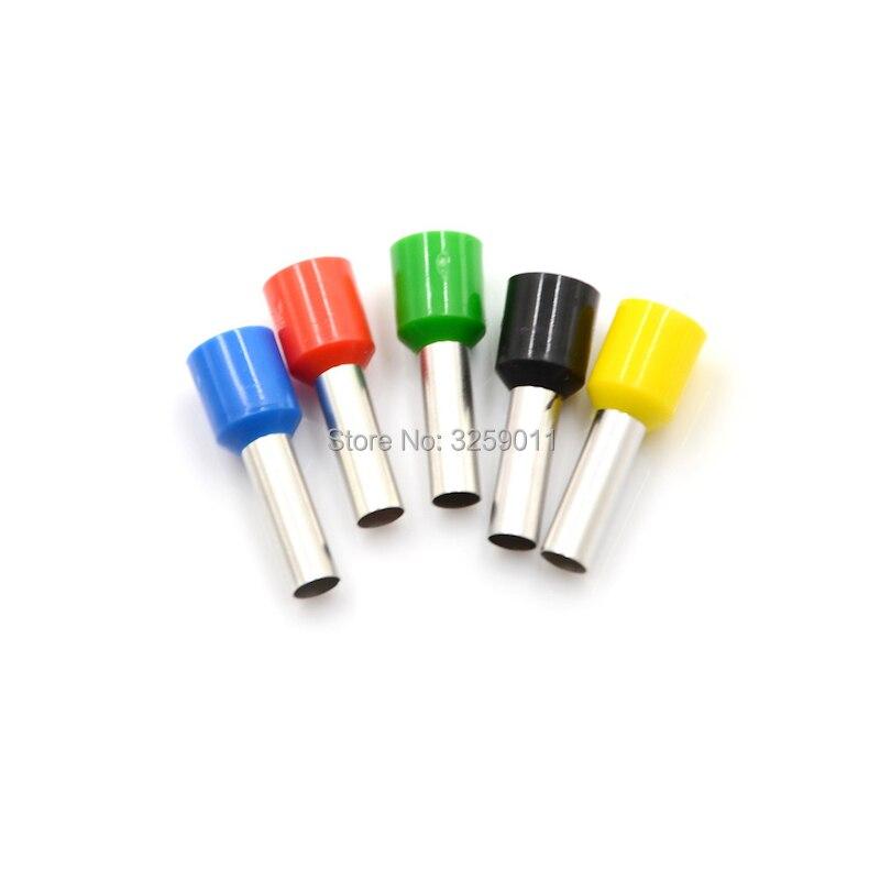 500 pces e6012 friso eletrico bloco terminal fio conector cabo extremidade virola tubular pre isolante e6012