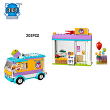 Hot My Good Friends Girls Clubs Heartlake Gifts Delivery Building Block Stephanie Figures Trucks Bricks Lepins Toys for Children