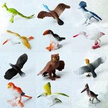 12 قطعة البلاستيك محاكاة الطيور الحيوانات نماذج مجموعة ألعاب الطيور الاصطناعي متعدد الألوان أرقام الاطفال ألعاب تعليمية للأطفال الصغار