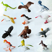 12pcs 시뮬레이션 된 플라스틱 조류 동물 모델 완구 세트 인공 멀티 컬러 조류 피규어 어린이 교육 완구 유아