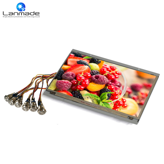 15 Inch Real 1080p Supermarket Display Ideas Open Frame Lcd Video Wall Mounting On Control Low