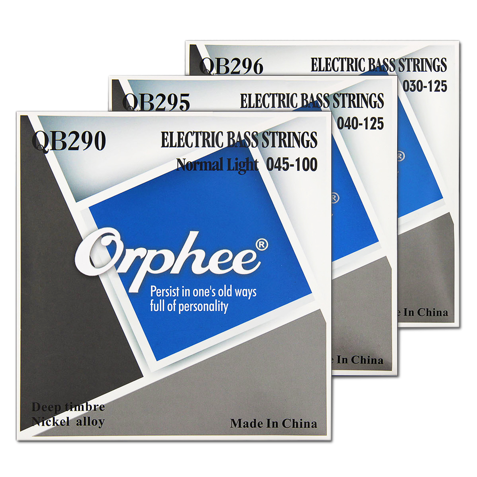 Orphee QB Series 4/5/6 Strings Electric Bass Strings Normal Light Nickel Alloy Hexagonal Core Nano Coated Electric Bass Parts