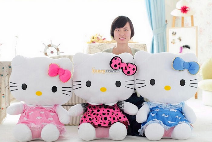 Fancytrader 27\'\' 70cm Giant Plush Stuffed Hello Kitty, 3 Colors Available! Free Shipping FT90157 (5).jpg